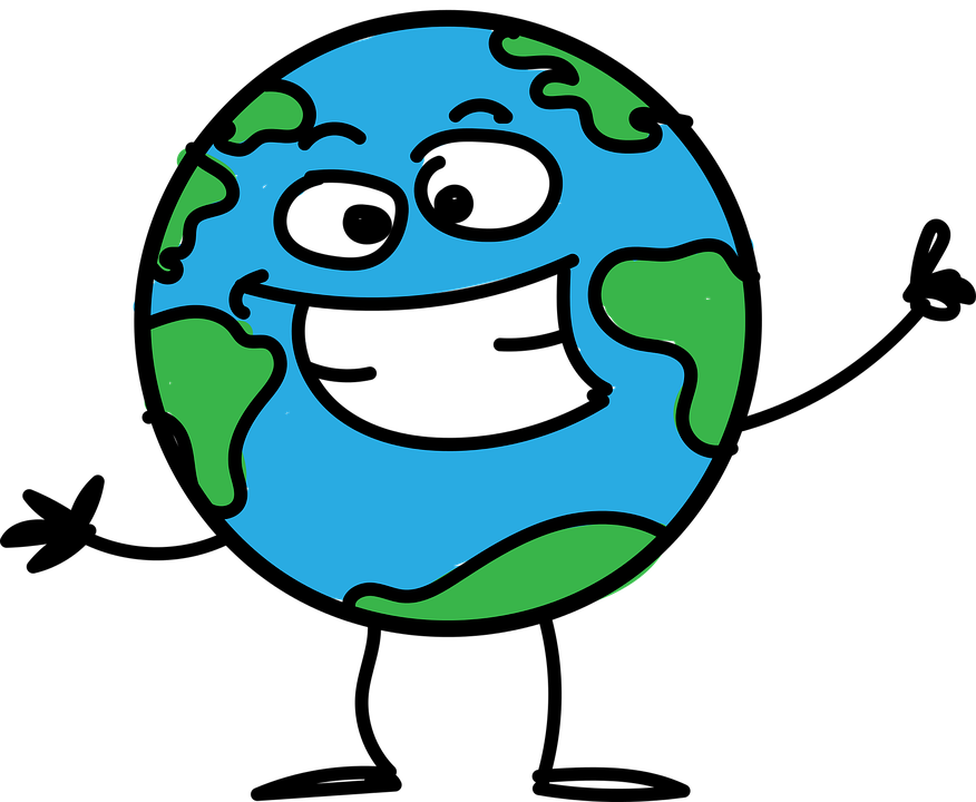 Planet Earth Cartoon · Free Vector Graphic On Pixabay