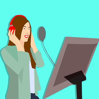 レコーディング スタジオ, 録音機器, マイク, 音楽, 女性, 歌手, ノイズ