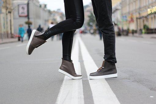 靴, ファッション, キエフ, 愛, Karabadgak, 女の子, 道路