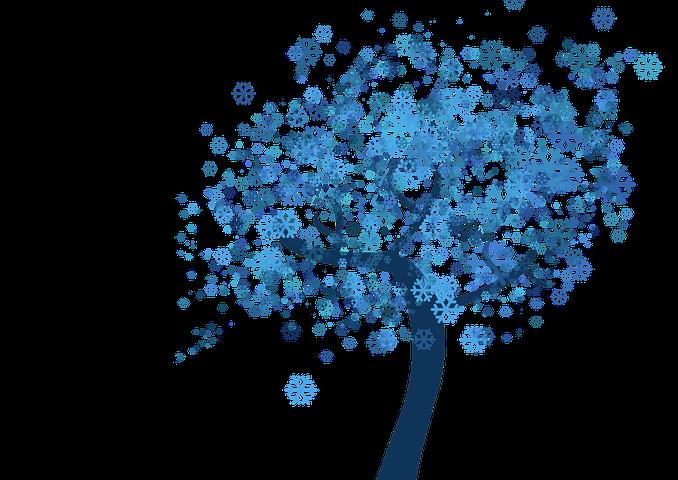 зимнее дерево картинки для оформления этих двух стилей