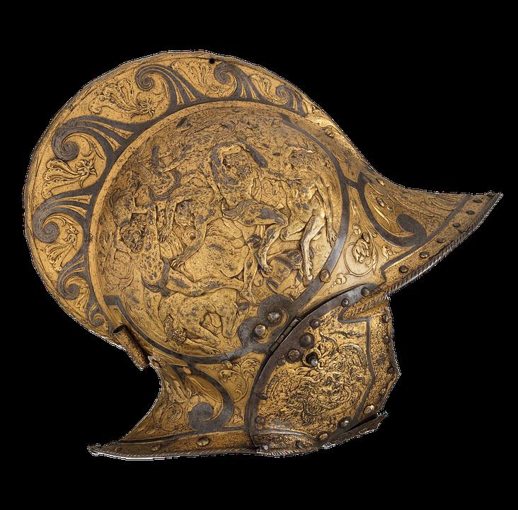 Barre, Casque De Chevalier, Knight, Moyen Âge, Métal