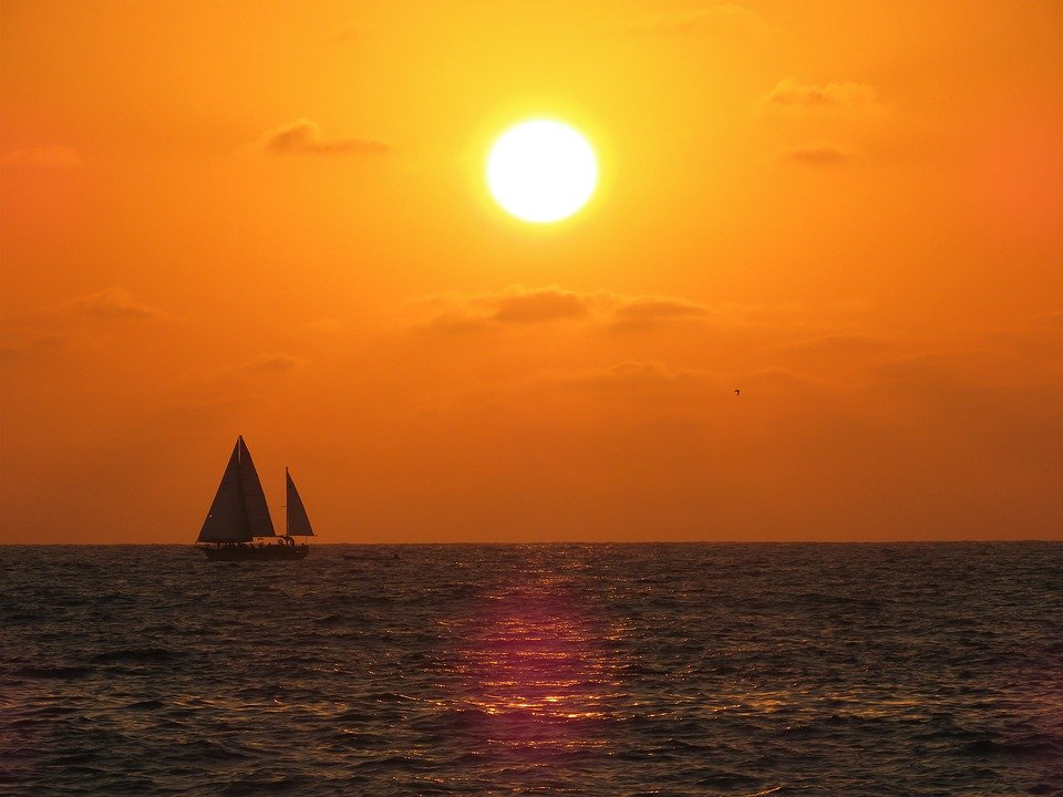 Sunset, Sailboat, Puerto Vallarta