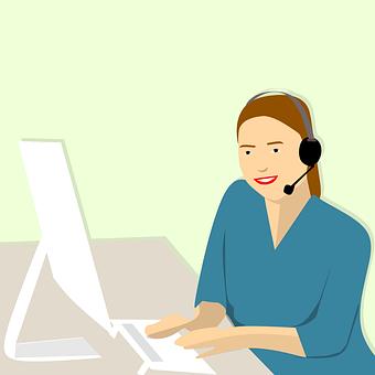 Call Center, Women, Agent