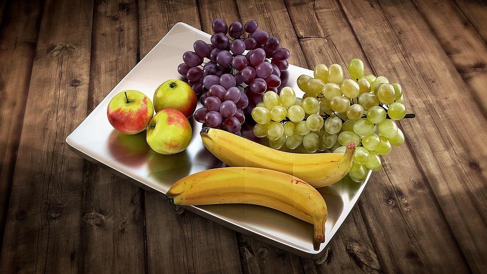 Frutta, Conchiglia, Banane, Uva, Apple