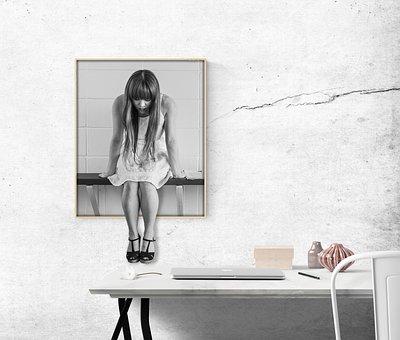 Imagen, Escritorio, Mujer, Oficina