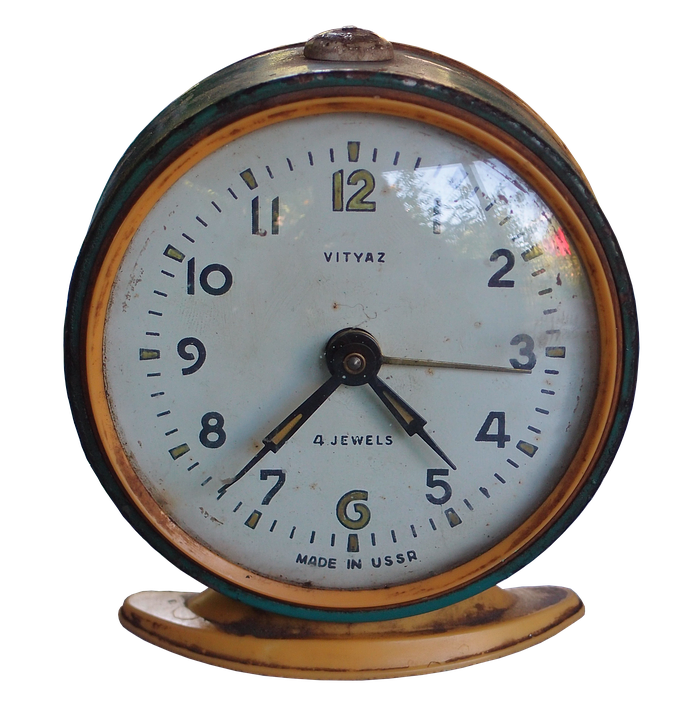 Alarm Clock Russian Old Ussr Antique Vintage