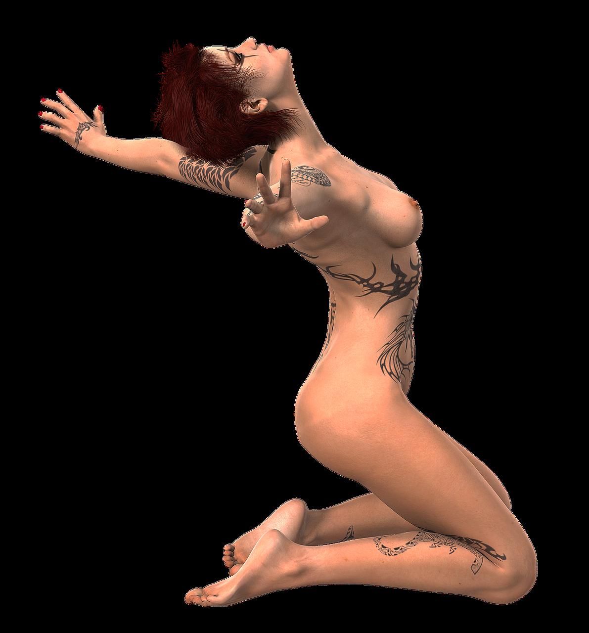 Naked Sitting Lady