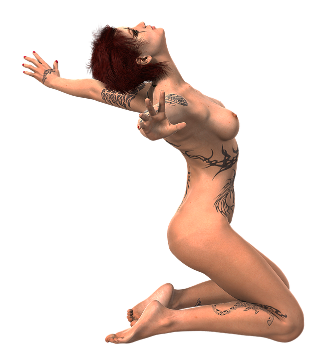 Mujer De Rodillas Tatuaje · Foto gratis en Pixabay