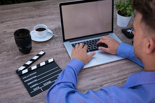 Filmmaker, On The Laptop, Computer