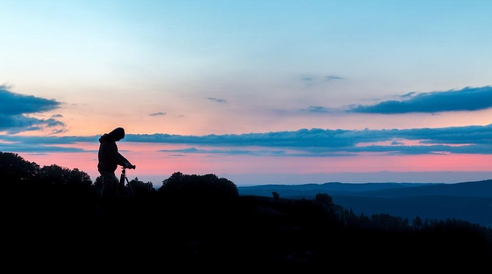 Foto Gratis Siluet Fotografer Alam Gambar Pixabay Matahari Terbenam