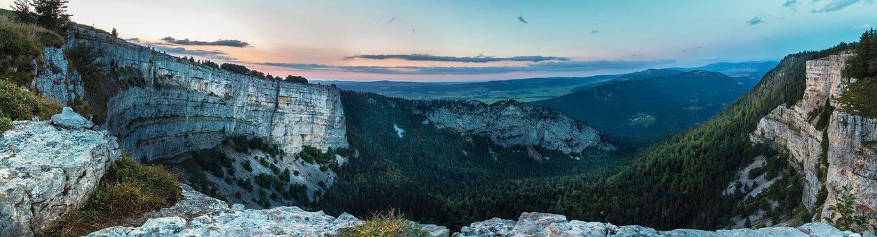 Creux Du Van, Panorama, Colored Rock