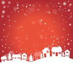 winter, landscape, homes