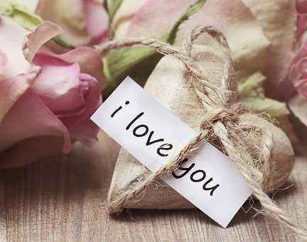 Roses, Wooden Heart, Heart, Heart Shaped