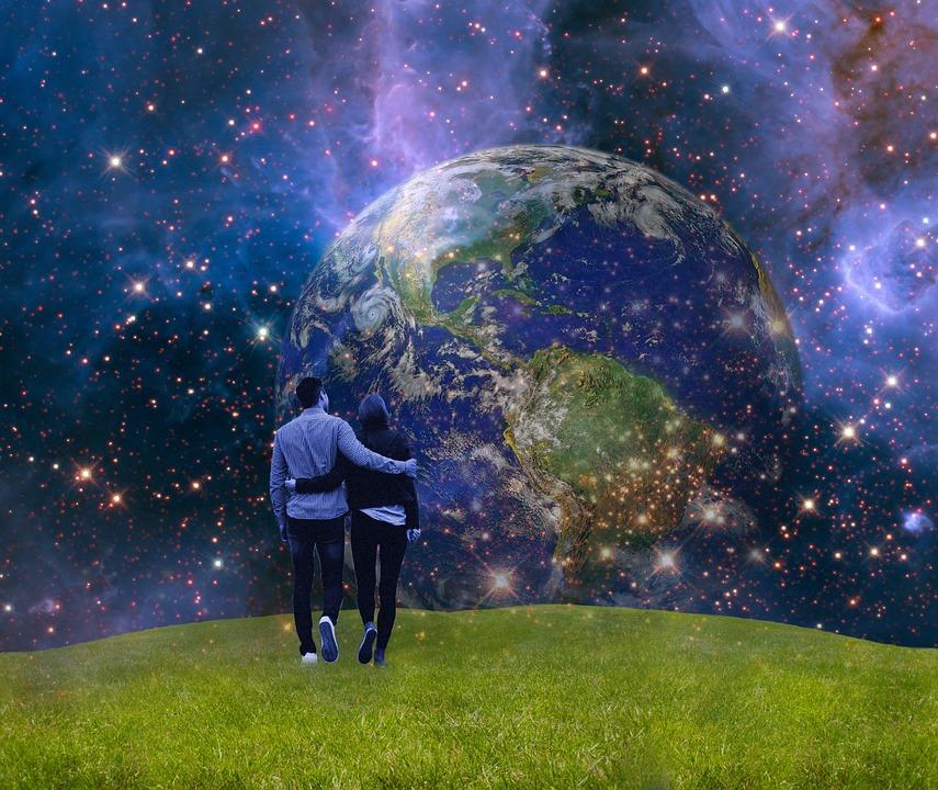 Erde, Blauer Planet, Erdkugel, Gaia, Planet, Menschen