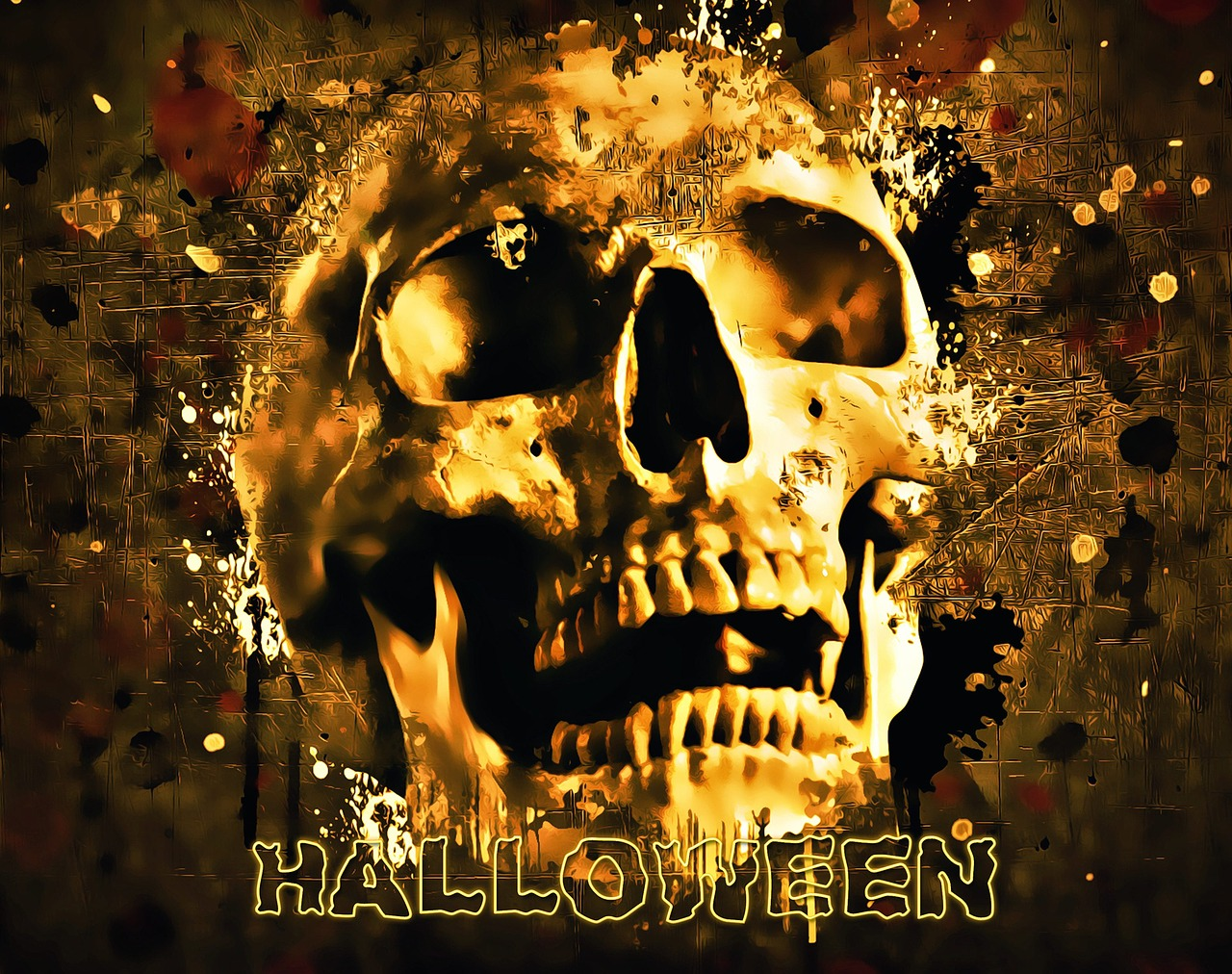 картинки черепов из хэллоуина была создана