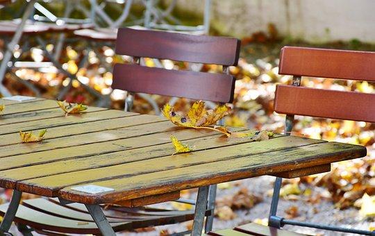 Autumn, Beer Garden, Chairs
