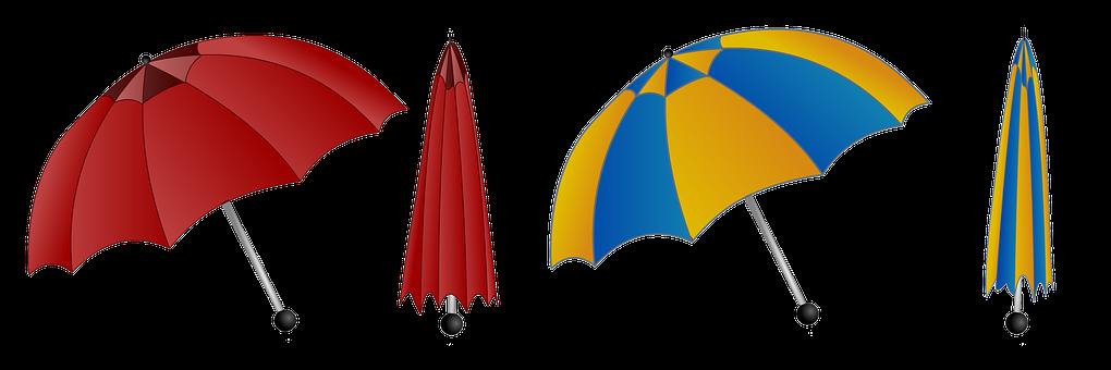 Umbrella, Colorful, Rain, Weather, Blue