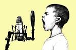 boy, microphone, scream