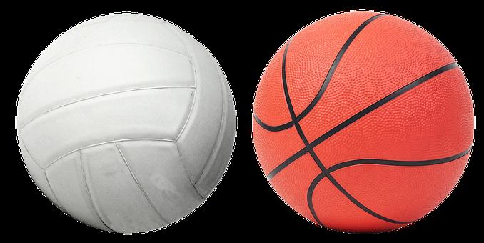 Voleibol, basquete, bola, jogo