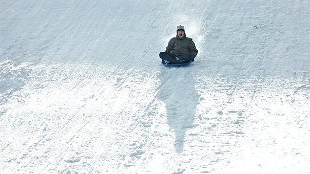 Winter, Toboggan, Sleigh Ride, Snow