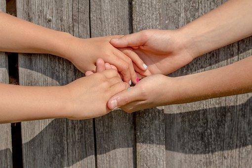 Hands, Friendship, Friends, Children