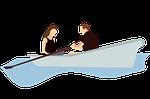 boat, couple, holiday