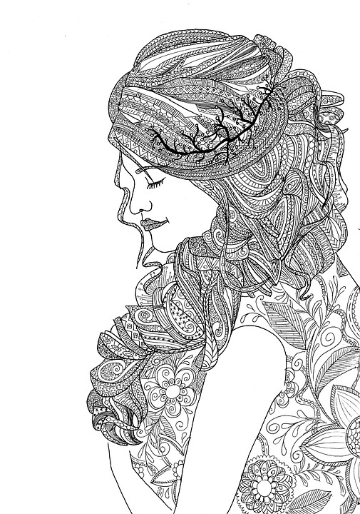 Woman Girl Coloring · Free image on Pixabay