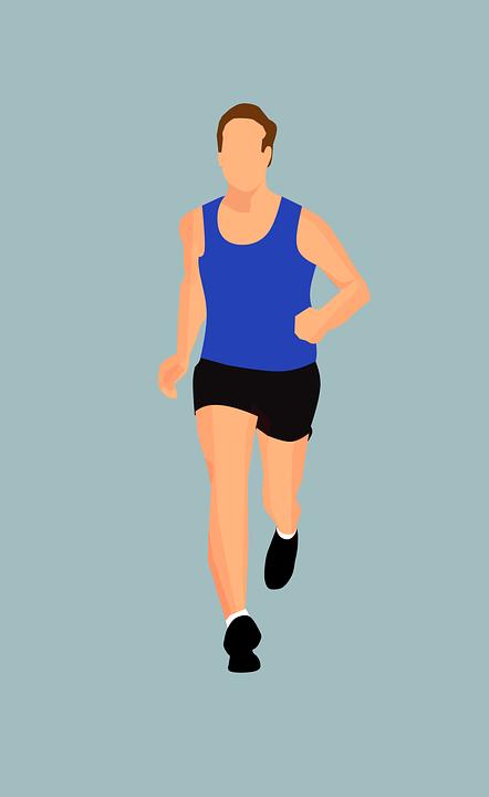 運動選手, スポーツ, 体, 適合, フィットネス, フル, 長さ, 男性, 男, マラソン, モデル, 自然