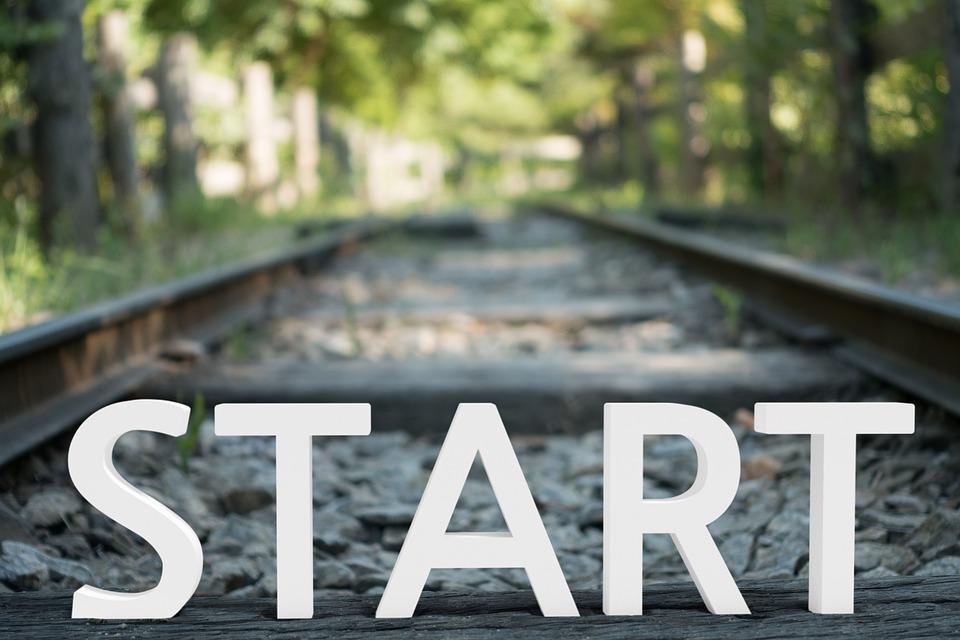 레일, 철도, 도로, 기차, 시작, 여행, 경로, 나무, 트리, 디자인, 처음, 시작 라인