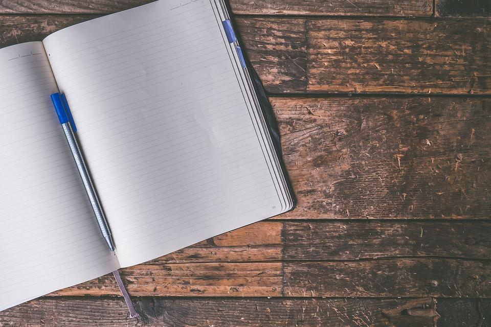 仕訳帳, 書き込み, 空白, ページ, ノート, ノートブック, 日記, ブレーンストーミング, ドキュメント