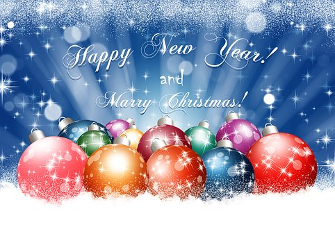 New Year, Christmas, Holiday, Postcard