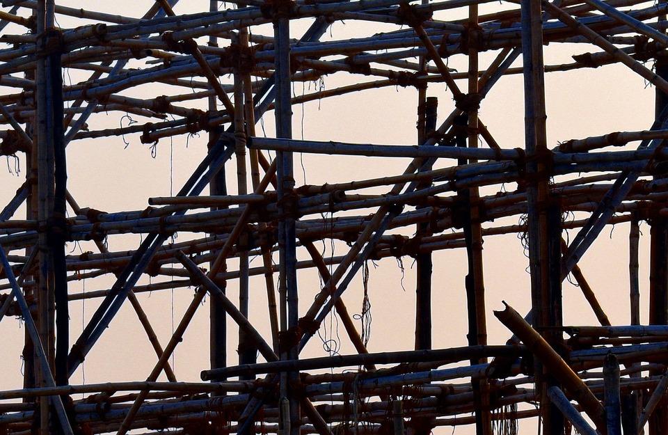 竹構造, 木製の枠組み, 竹, フレーム