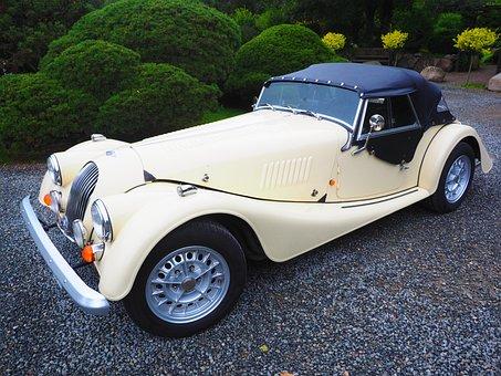 Morgan Plus 8, Auto, Voertuig, Oldtimer