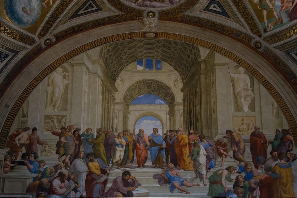 Vatican, Académie, Aristote, Platon