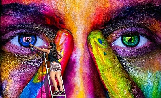 Veggkunst, Spray, Graffiti, Kvinne