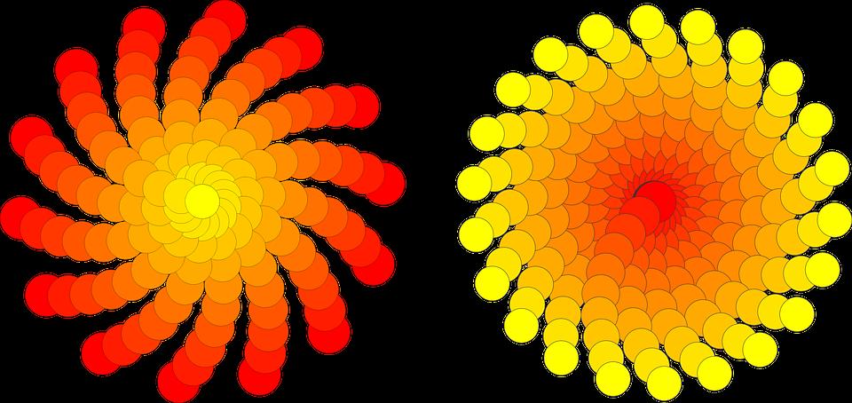 Circles Sol Flowers - Free image on Pixabay