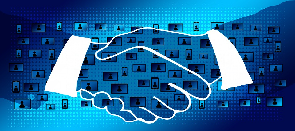 Block Chain, Handshake, Shaking Hands, Contract, Data