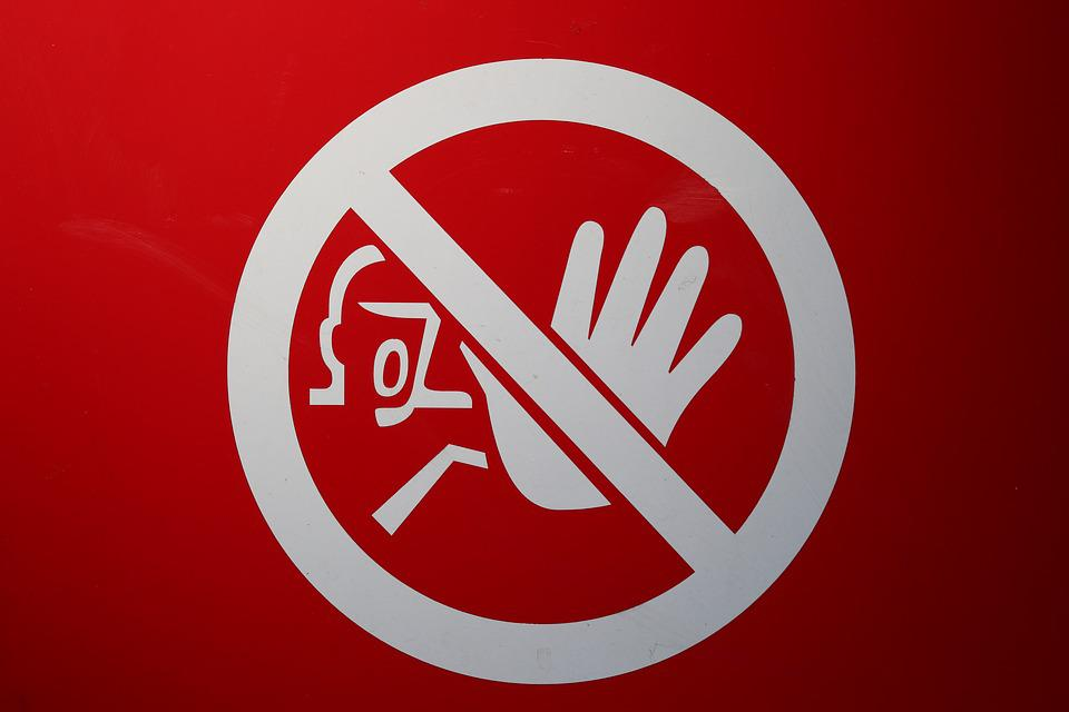 シールド, 禁止, 停止, を含む, 警告, 注意してください, 道路標識, 通路, Warnschild