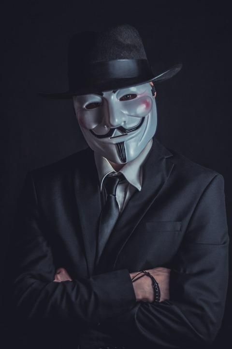 V For Vendetta, Вендетта, Анонимный, Маска, Голова