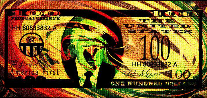 Donald Trump, Pop Art, Edit, Dollar