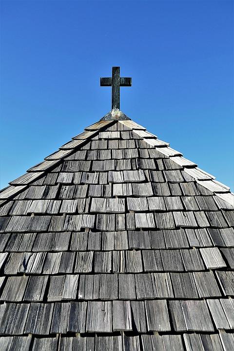 Shingle Roof, Wood Shingles, Chapel Roof, Cross