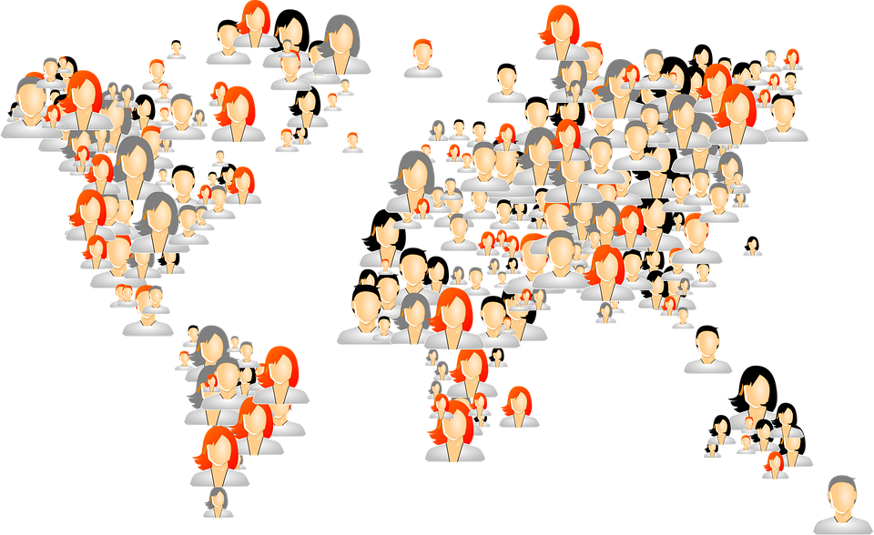 Avatars world map people free vector graphic on pixabay avatars world map people humans persons male gumiabroncs Gallery