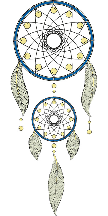 Culture dream catcher dreamcatcher free vector graphic for Dream catcher graphic