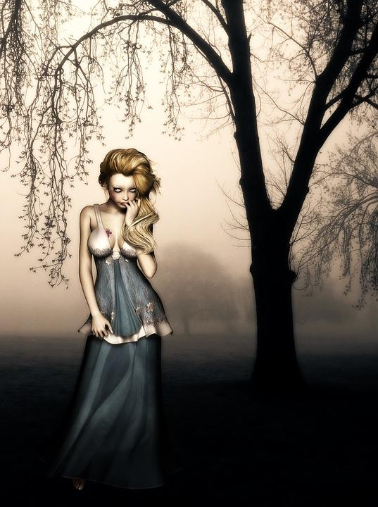 64322d0531 Vampir Wald Frau - Kostenloses Foto auf Pixabay