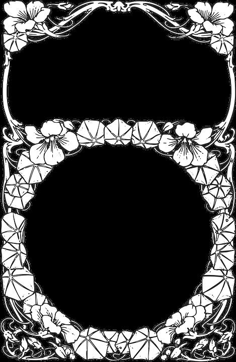Floral Border Frame · Free vector graphic on Pixabay
