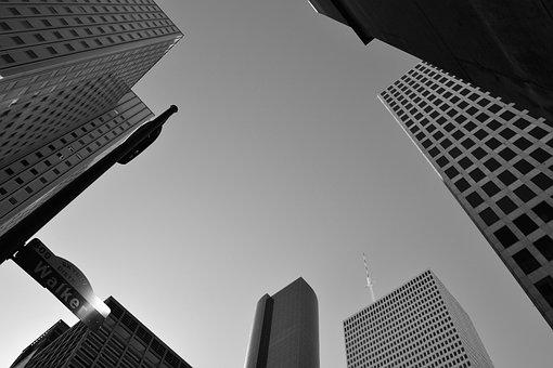 建物, デザイン, 形状, 企業, ダウンタウン ヒューストン, ヒューストン