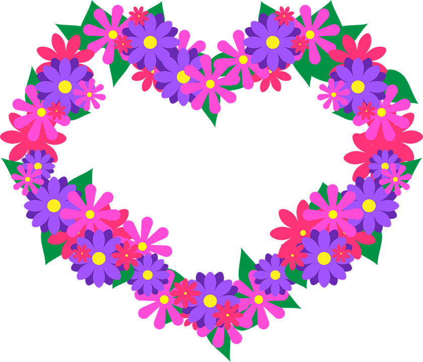 Flower Heart Pink Free Vector Graphic On Pixabay