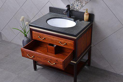 Bluestone, Redwood, Bathroom Cabinet