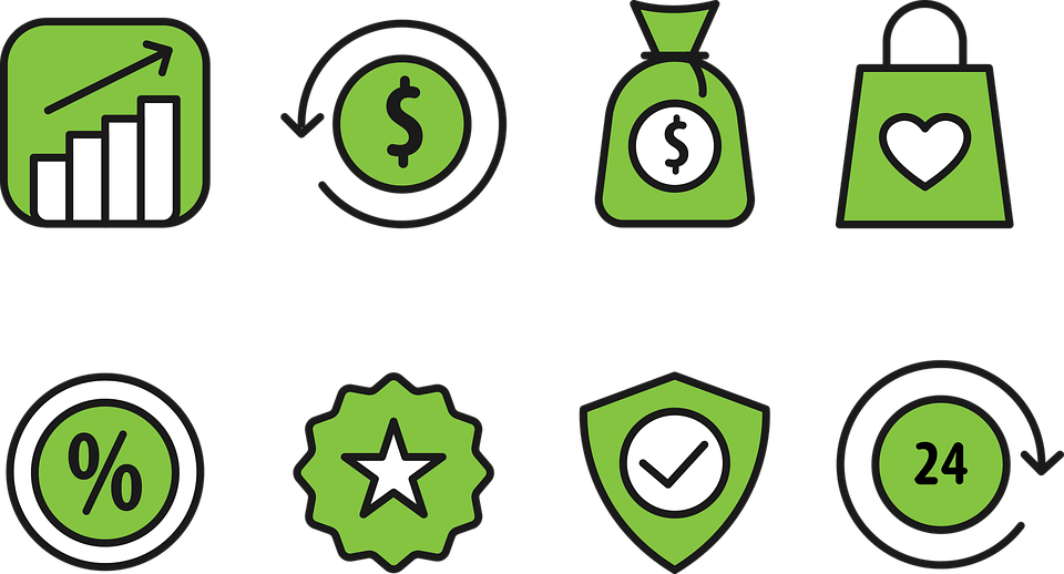 Money, Green Icon, Profit  Profit & Loss Template Free