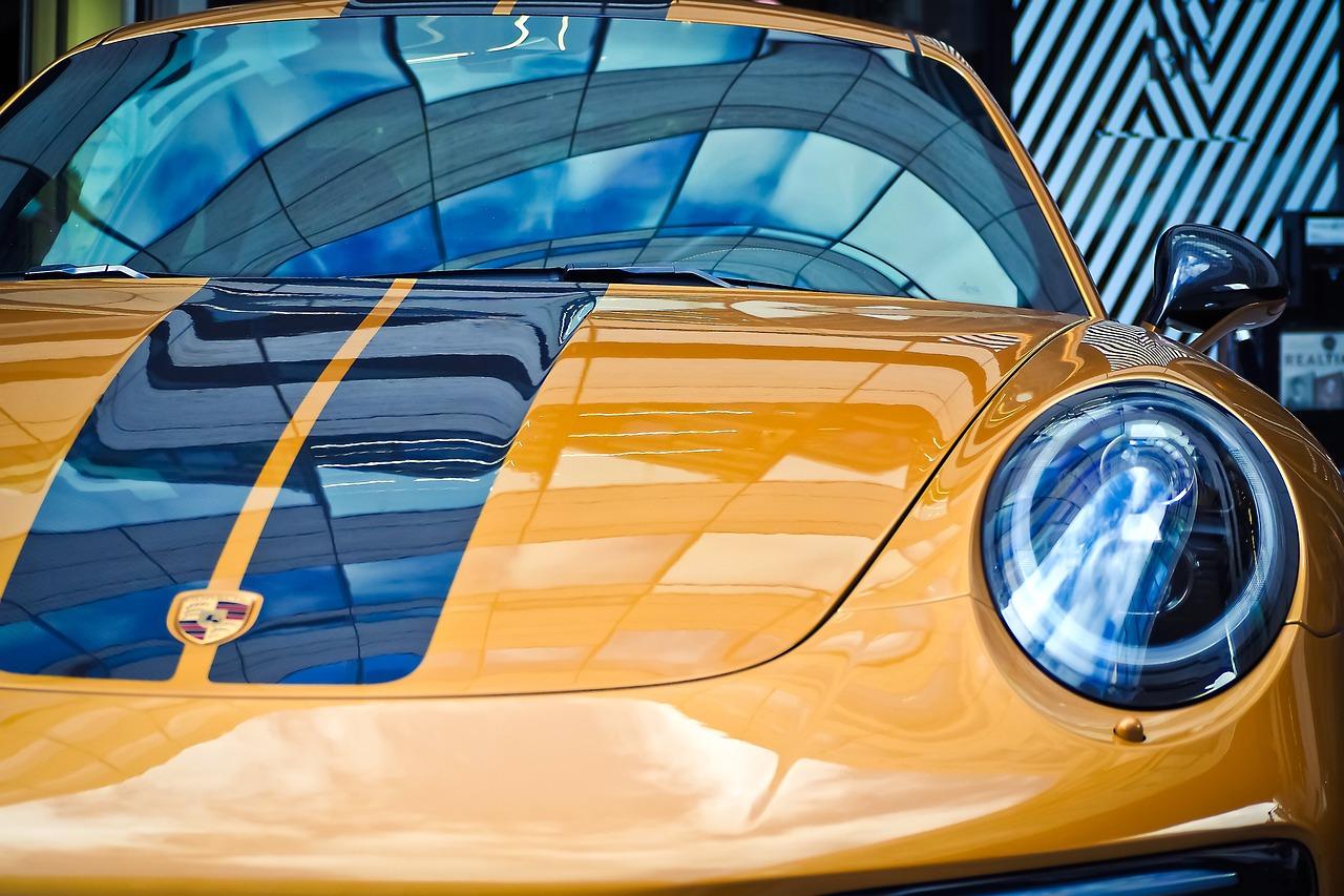 Yellow Porsche Boxter